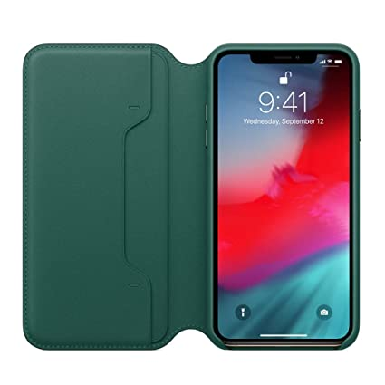 iphone xs max leather flip case