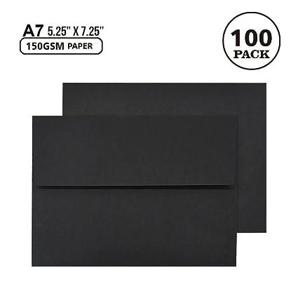 amazon com a7 black invitation 5x7 envelopes self seal square