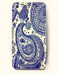 OOFIT Apple iPhone 4 4S Case Paisley Pattern ( Beautiful Blue Palme Tree )