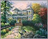 Victorian Interlude Framed Print 23.18''x28.96'' by Nicky Boehme in a Metal Frame White