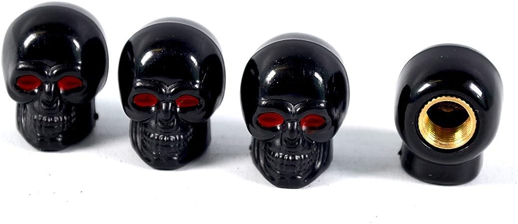 Ventilkappen Modell Skull Schwarz 4 Stück Auto