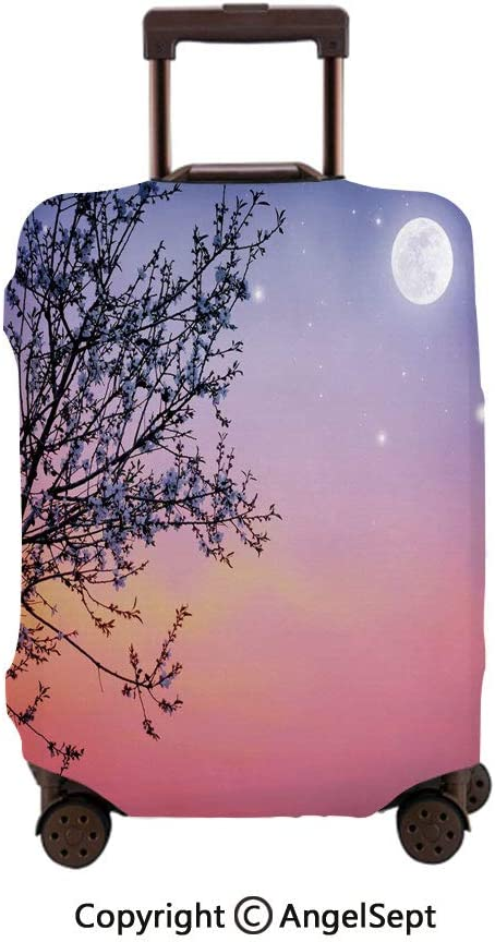 Travel Luggage Cover Spandex Suitcase,Mermaid Coon Water Bubbles Starfish Fashionable Stylish Curly Fictional,26x37.8inches,Protector Carry On Covers with Zipper