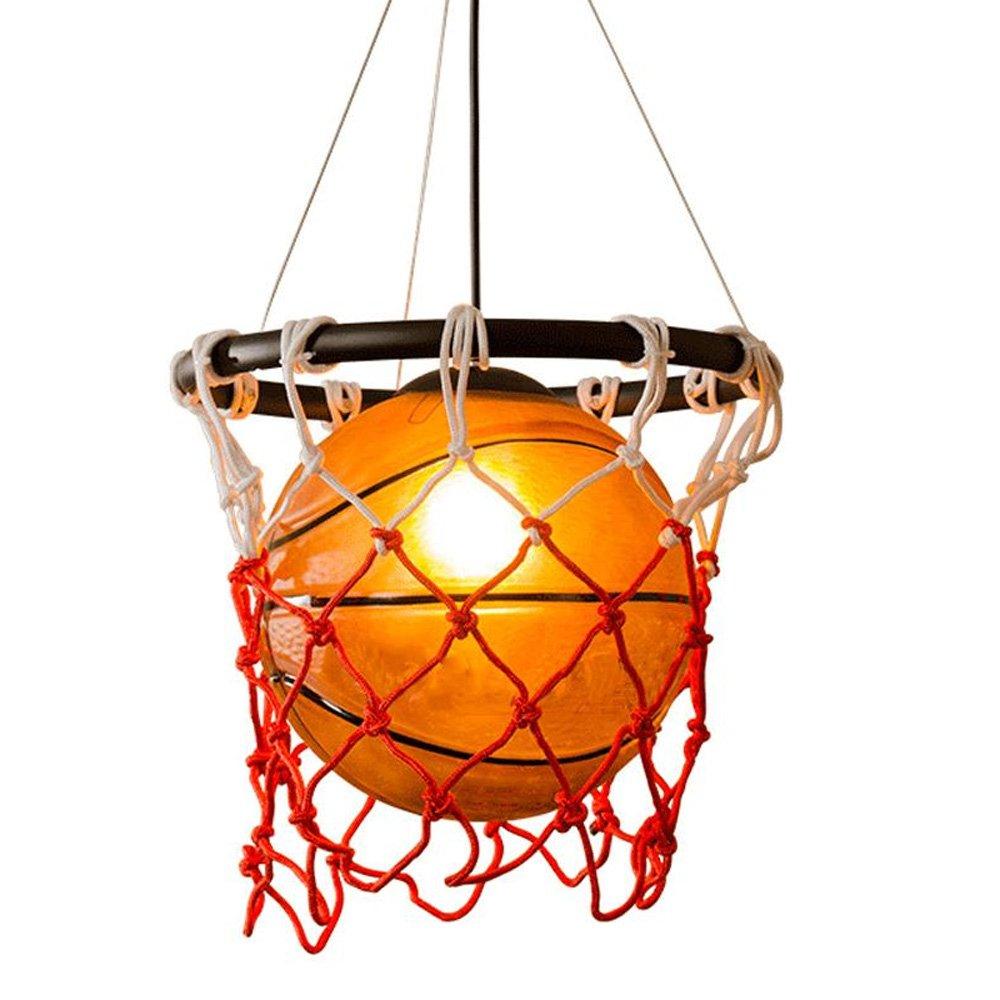 American Retro Creative Basketball Pendant Lights Sport Theme Art Decoration Personality Restaurant Gymnasium Store Decorative Lighting Ceiling Light Wangmy