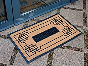 Slonser modern welcome mat carpet entrance for Door mats amazon