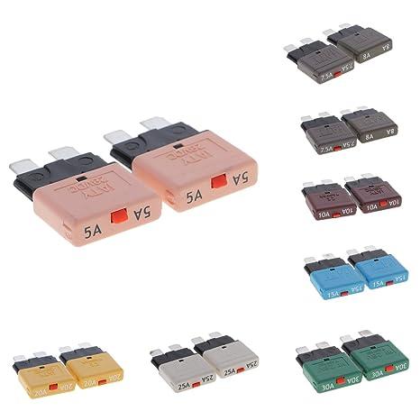 30A Auto ATM Mini Blade Sicherung Kit Leistungsschalter 2 Stücke 10A