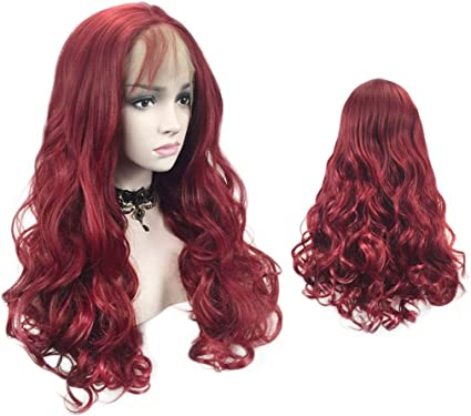 wig Peluca de Encaje Frontal para Mujer, Pelo Largo Rizado ...