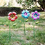 Spring Has Sprung Flower Outdoor Garden Stake, 3 Assorted