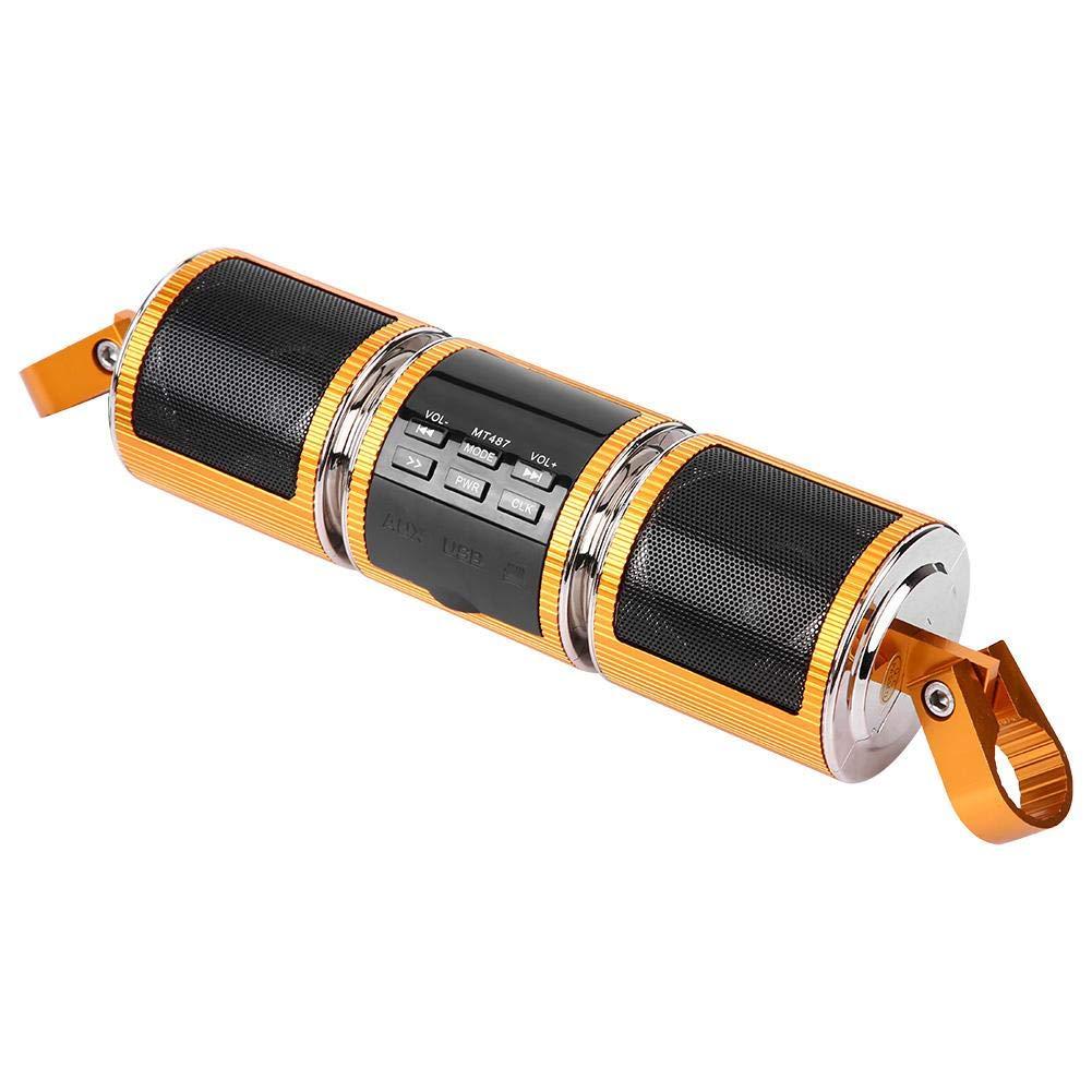 Gold EBTOOLS Universal Motorrad Lenker Bluetooth Audio Verst/ärker Stereo Lautsprecher MP3 USB//TF Karte IP4 Wasserdicht
