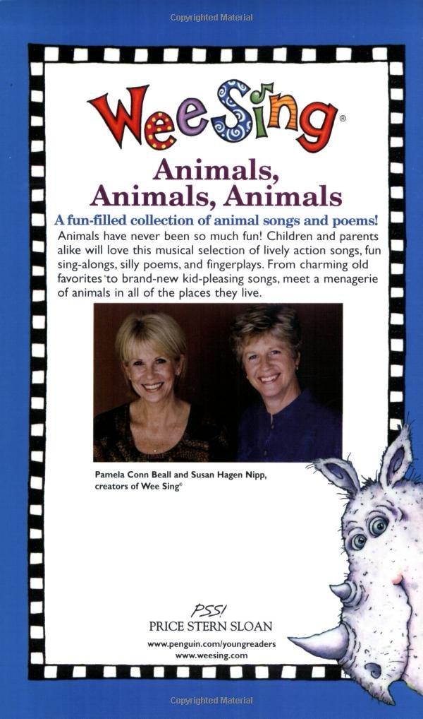 Wee Sing Animals, Animals, Animals by Price Stern Sloan