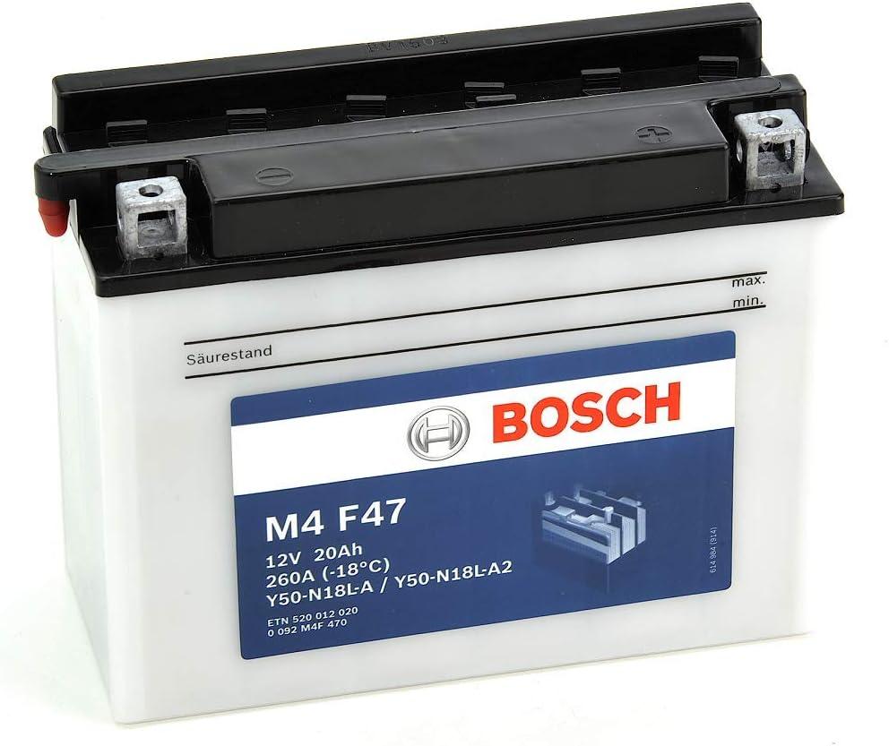 Bosch M4F47 Batterie moto Y50-N18L-A Y50N18L-A2-12V Plomb 20A//h-260A