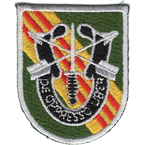 - 5th Special Forces Group Vietnam Flash with Crest Patch