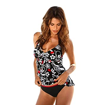 Bikini Dos Estilos Mujer Push-up Acolchado Bra Trajes de baño Dos ...