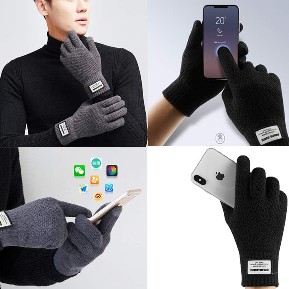 Women Men Winter Touchscreen Gloves Winter Warm Knit Fleece Lined Gloves Touchscreen Mittens