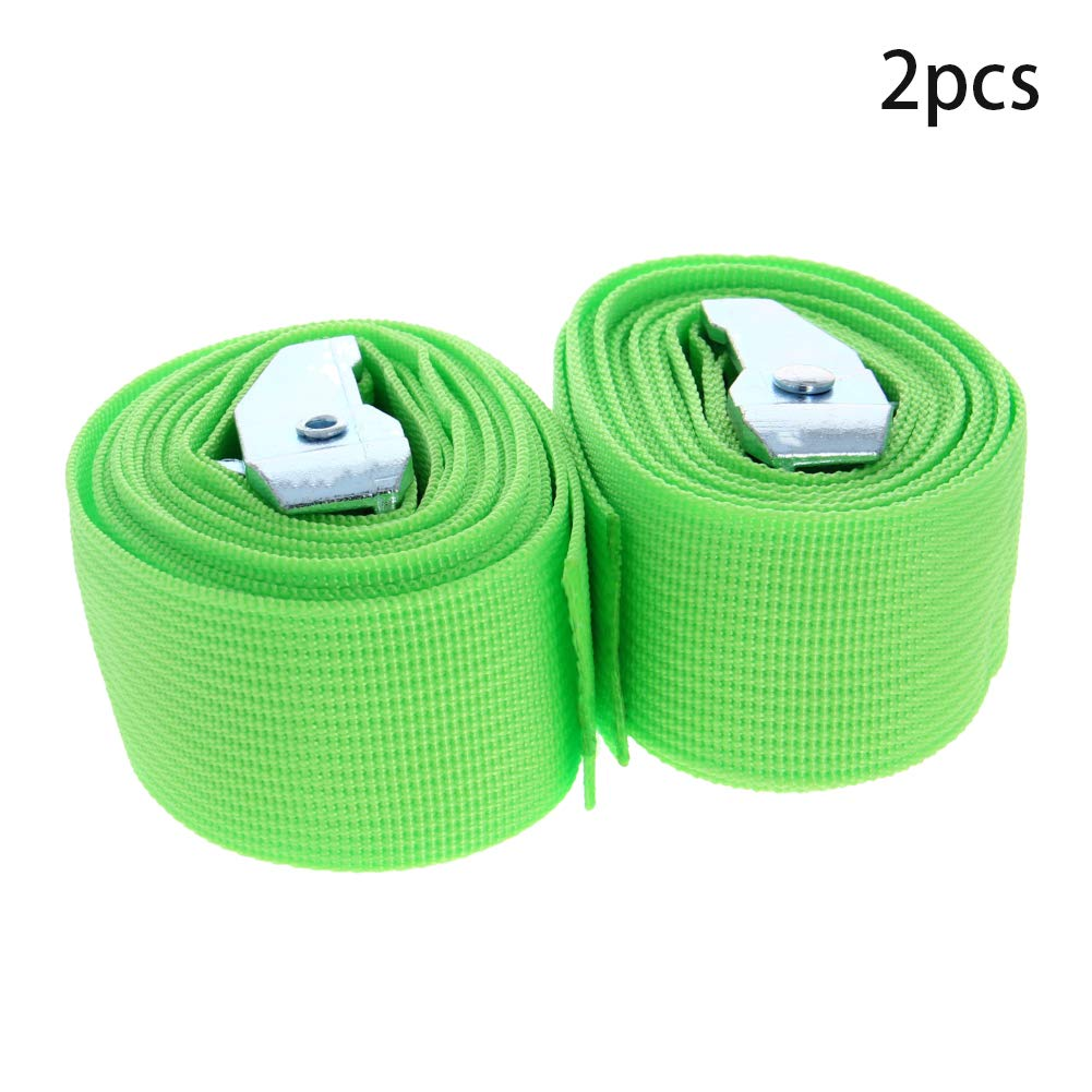 MroMax Cam Buckle Tie Down Lashing Strap 2.5Mx38mm 100kg Load Cap Polypropylene for Moving Cargo Green 4pcs