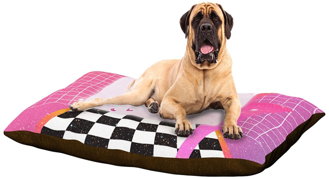 X-Large 40\ Kess InHouse Danny Ivan K7  Pink Casette Dog Bed, 50 by 60-Inch