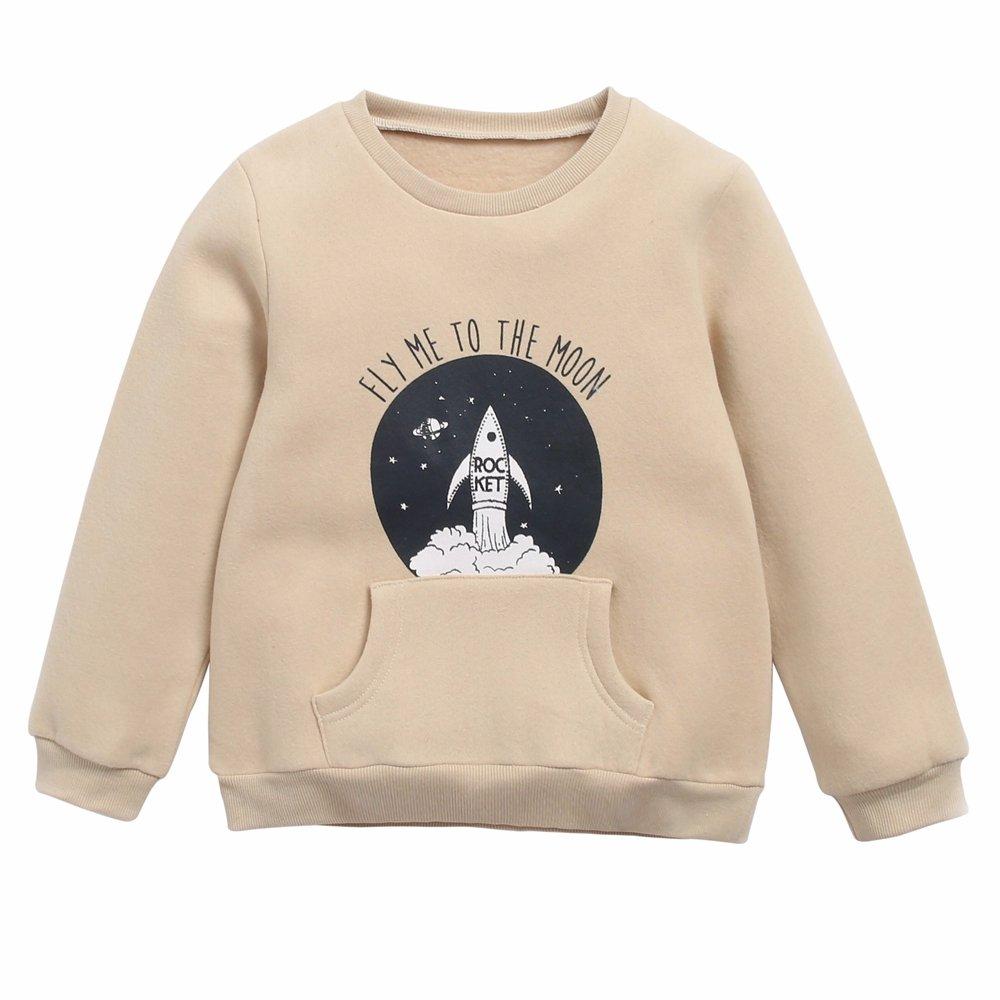 Sanlutoz Patterned Boys Girls Sweatshirt Cotton Clothing Winter Long Sleeve