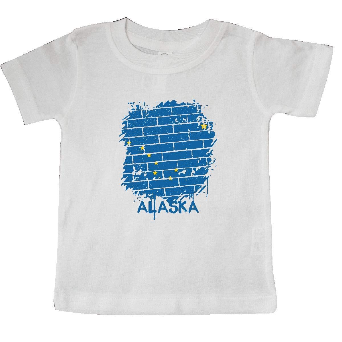 inktastic Graffiti Alaska State Flag Baby T-Shirt