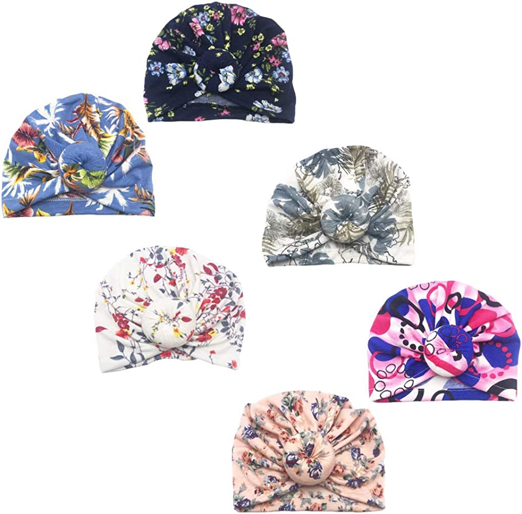 Girls Baby Cotton Cloth Turban Kont Toddler Tabbit Ear Hat Kids Set Head Cap Baby Hats