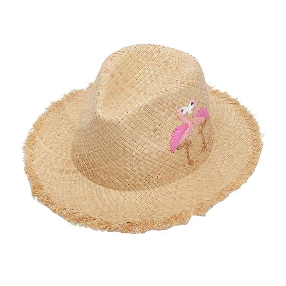 LINNUO Mujer Sombrero de Jazz Playa Paja Panama Estilo Británico Deporte al  Aire Libre Gorro del Sol Sombrero  Amazon.es  Ropa y accesorios 18d9b261c14