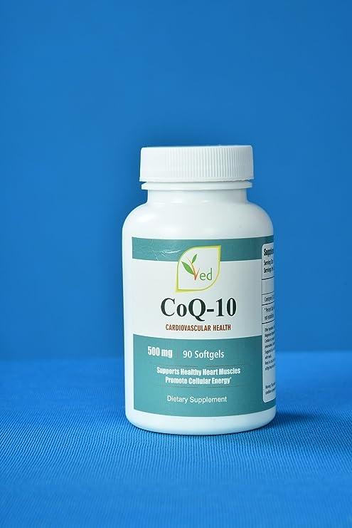 CoQ 10, Co Enzyme Q10 500mg 90 Cápsulas (Softgels) GMP Calidad Garantizada