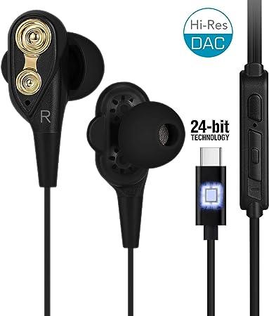 Dual Dynamic Driver Kopfhörer Hi Res USB C Kopfhörer mit 1,2 m