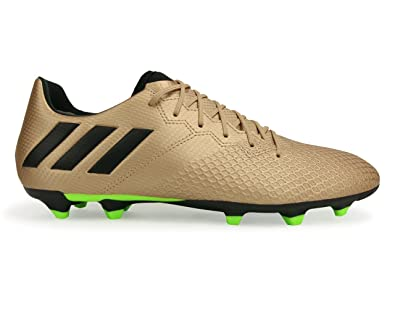 Adidas Men's Messi 16.3 Fg Copper Metallic/Core Black/Solar Green Soccer  Shoes -