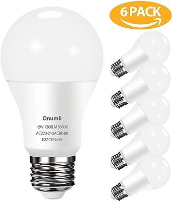 Bombilla LED E27 12W, 1200 lúmenes equivalente a 100W, Luz Blanca ...