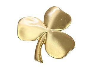 Biddy Murphy Shamrock Wall Hanging Irish Wall Decor Gold Plated Pewter Irish Blessing