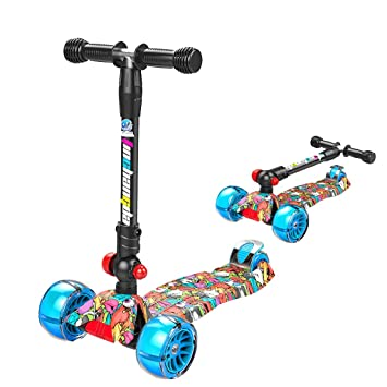 Kick Scooter Patinete Plegable para Toddler 3 Ruedas 3-5-6 ...