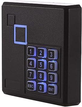 UHPPOTE Proximidad RFID ID Tarjeta Lector Con Teclado De Control Acceso 125KHz Wiegand 26 Bit Color Negro
