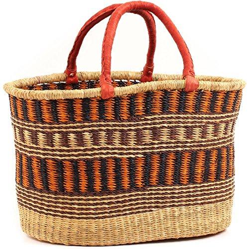 (Fair Trade Ghana Bolga African Oval Shopper 18.5-21.5