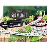 SLR Lighting LED Grow Light Five 20 Inch Strips Kit for Plants Indoor Gardens, Closets, Greenhouses, Vegetables, Herbs, & Flowers with 250 Red & 50 Blue for Hydroponics and Horticulture [with Plug]