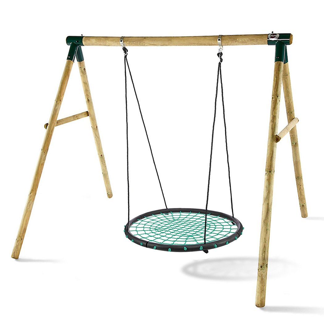 Spider Web Tree Swing 40'' Giant Rope Swing Set - 440 LB Safety Rated, Waterproof, Awesome Family Fun [US Stock] (Green_1)