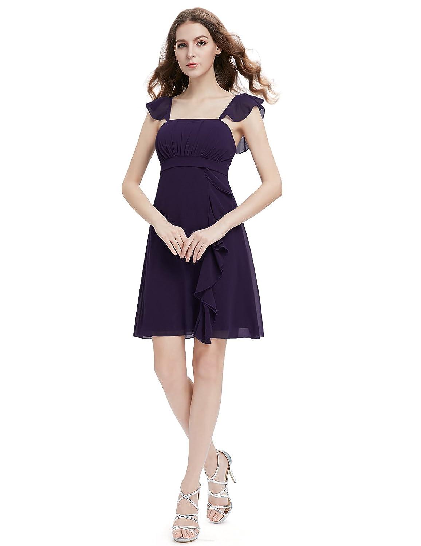 Amazon.com: Ever Pretty Women&-39-s Double V-neck Chic Empire Waist ...