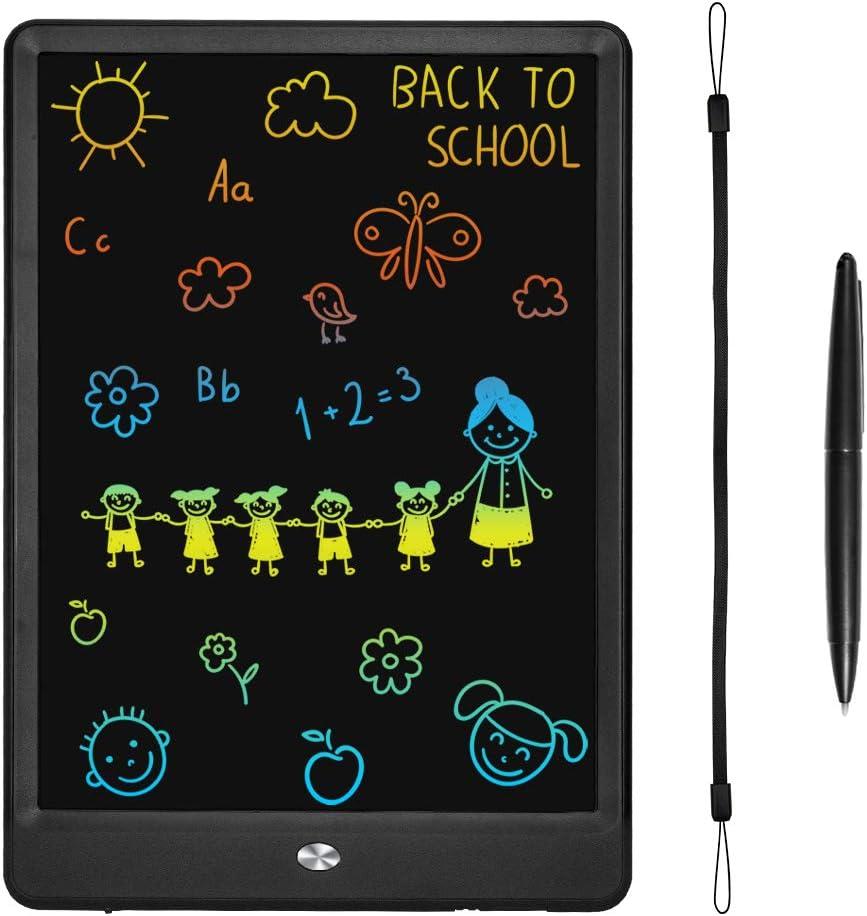 KURATU LCD Writing Tablets for Kids 10 inch Colorful Screen Electronic Drawing Pads Writing Board & Drawing Tablet Doodle Board Writing Tablets (Black)