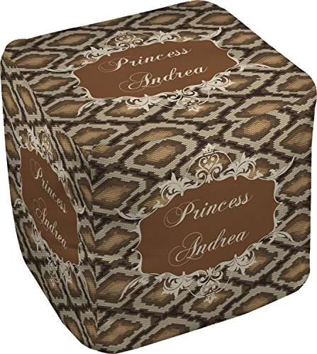 RNK Shops Snake Skin Cube Pouf Ottoman - 13'' (Personalized) by RNK Shops