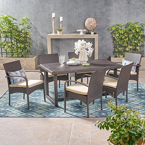 Christopher Knight Home Acker Outdoor 7 Piece Wicker Dining Set