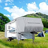 Waterproof Superior 5th Wheel Toy Hauler RV Motorhome Cover Fits Length 26'-29' New Fifth Wheel Travel Trailer Camper Zippered Panels Heavy Duty 4 Layer Fabric