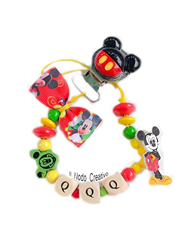 Cadena de chupete Mickey Mouse Disney | nombre adaptable ...