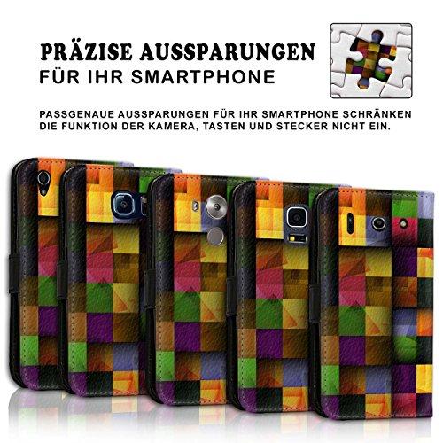 Wallet Book Style Flip Handy Tasche Case Schutz Hülle Schale Motiv Etui für Apple iPhone 5 / 5S - Design Flip MVD23