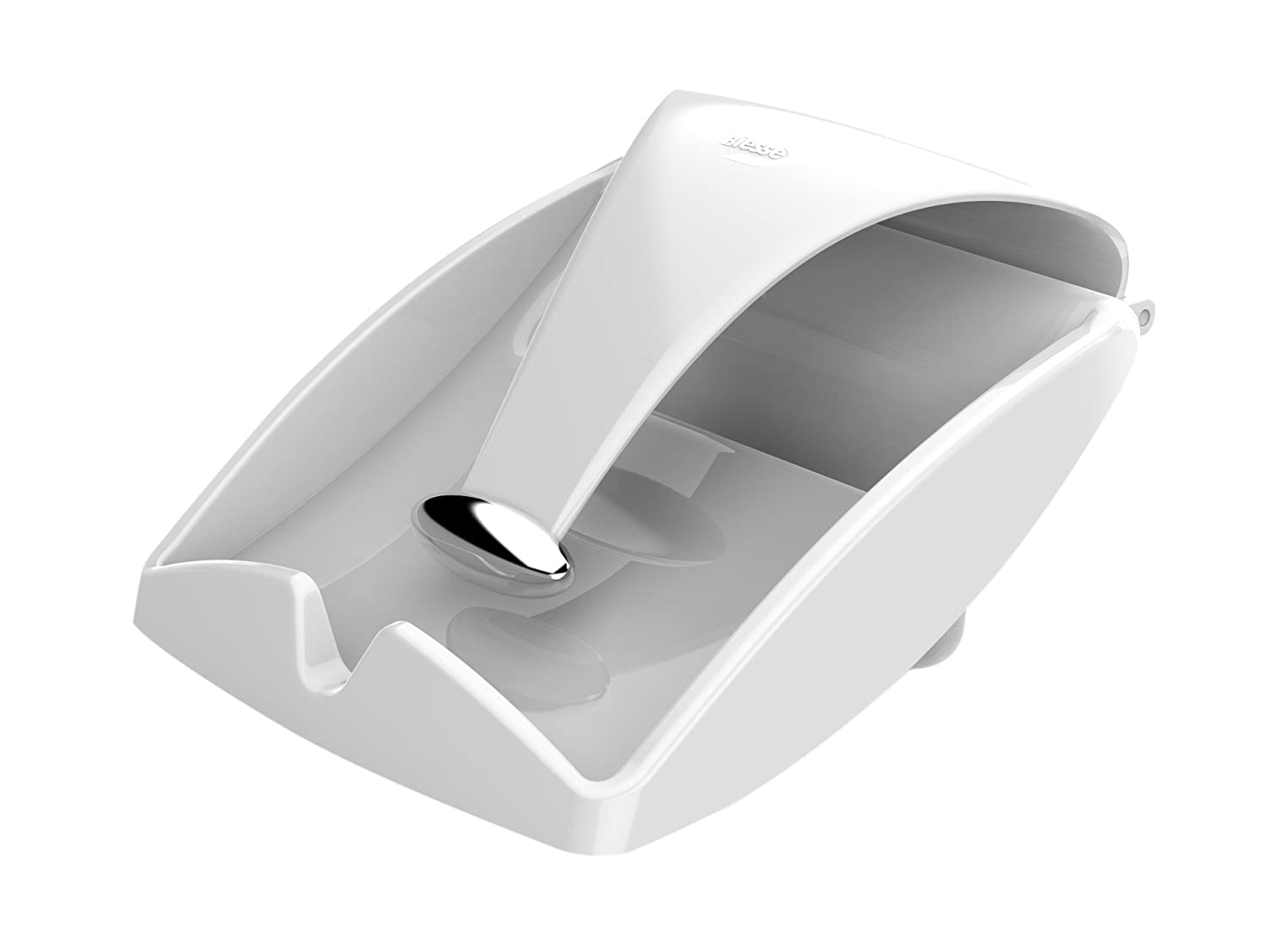 Biesse Casa Napkin Holder, White/Chrome ECOPLAST 0921