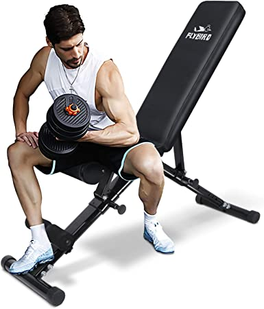 side facing flybird strength training foldable bench