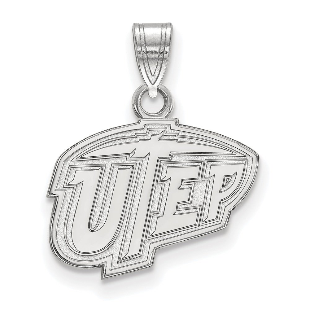 925 Sterling Silver Rhodium-plated Laser-cut University of Delaware Large Pendant