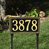 Egg and Dart One Line Standard Lawn in Black / GoldWhitehall-6123