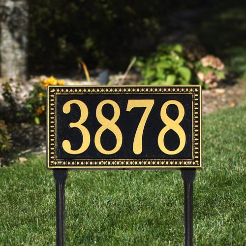 Egg and Dart One Line Standard Lawn in Black / GoldWhitehall-6123 by Whitehall Products (Image #2)