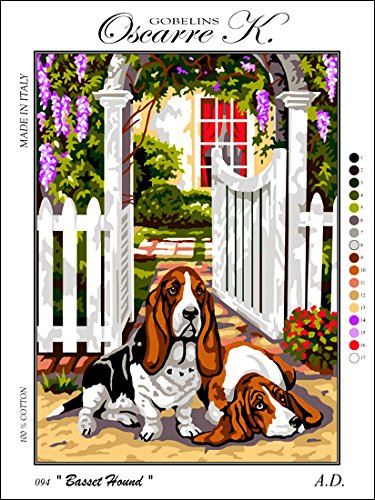 Needlepoint Kit Basset Hounds 19.3