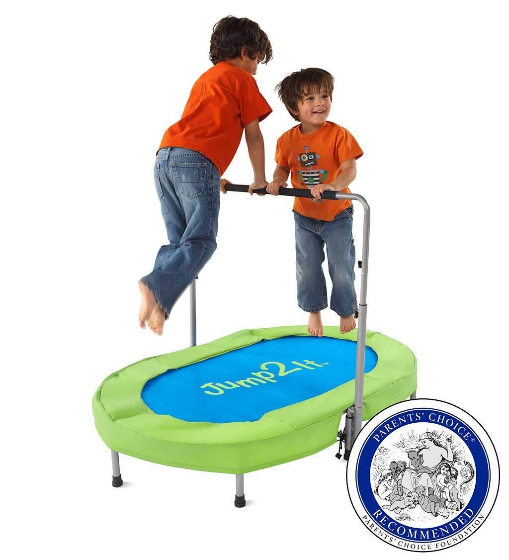 Jump2It Kids Portable 2 Person Mini Trampoline