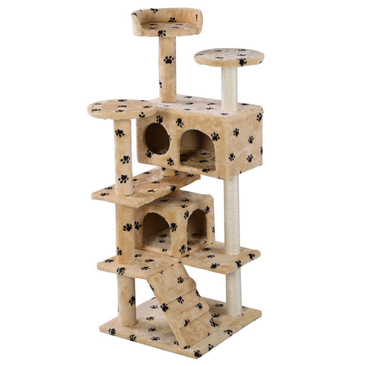 Eight24hours New Cat Tree Tower Condo Furniture Scratch Post Kitty Pet House Play Beige Paws + FREE E-Book