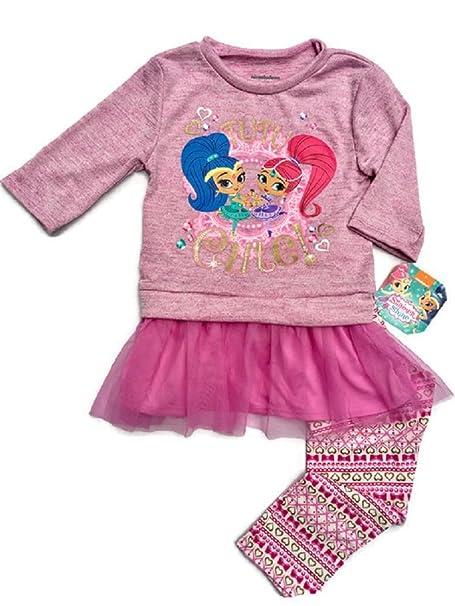 6b8e417ccf463 Shimmer and Shine Tutu Cute! Toddler Little Girl 2Fer Top Legging Set (2T)