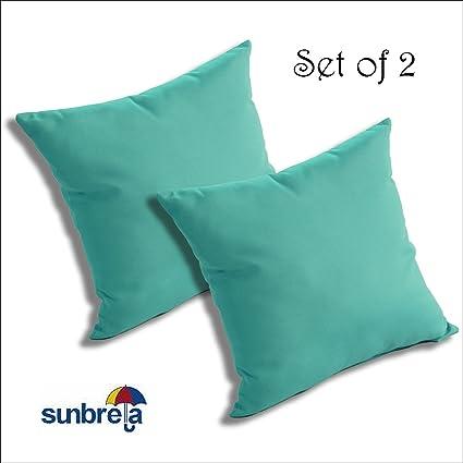 Amazon.com: Juego de 2 Sunbrella exterior/interior cojines ...